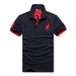 Shorts baratos camisas t on-line-T-shirtdiscounted camisa PoloShirt homens ST curto Marca Londres New York Chicago camisa polo homens Dropship Barato de Alta Qualidade Livre