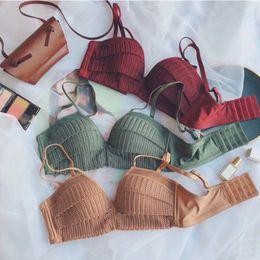 8673d2a8c2 2019 New Romantic Sexy Bra Set Women Wire Free Push Up Bra Seamless Underwear  Set Comfortable Female Lingerie Sets