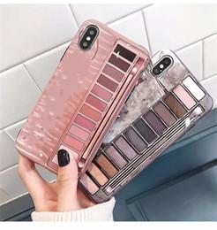 Telefon fall augen online-Neue handy fällen make-up nk lidschatten box telefon case für iphone x xr xs max imd silikon telefon rückseitige abdeckung für iphone 6 7 8 plus