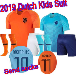 Nederland kids soccer jersey V.PERSIE Football uniform 2018 2019 Holland  home MEMPHIS SNEIJDER ROBBEN VIRGIL WIJNALDUM Netherlands football 896c4893d