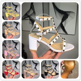 pulseira de salto chunky t Desconto Designer de Sandálias Designer de Mulheres Sandálias Coloridas Sandálias de Alta Qualidade T-cinta de Alta-salto alto Bombas Senhoras Vestido Único Sapatos com caixa