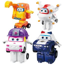 super robot de deformação Desconto Atacado 5 ª Temporada Mini Super Asas Deformação Mini Avião ABS Robot toy Figuras de Ação Super Asa ZOEY / SCOOP Transformação brinquedos