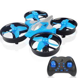Quadcopter remoto online-Mini RC Drone Quadcopter control remoto de 4 canales 2.4G 6-Axis helicóptero Altitud Hold Dron modelo modo sin cabeza de control remoto Juguetes