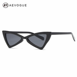mod occhiali da sole donne Sconti AEVOGUE Hot punta Estremità Cat Eye Sunglasses Women Ispirato sole mod sexy elegante di modo occhiali AE0571
