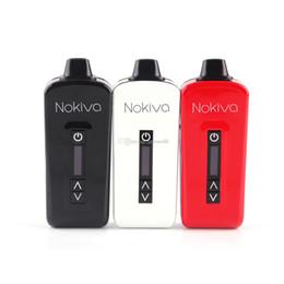 Kit iniziale di vaporizzatori a base di erbe originali Nokiva Batteria da 2200 mAh Batteria in ceramica Ciambella secca Kit penna per vaporizzatore con touch screen 100% autentico da schermi in ceramica fornitori