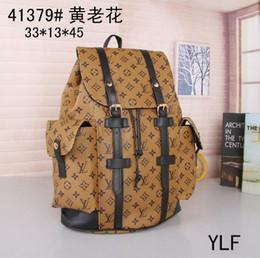 Bolsos de moda para hombres online-el nuevo estilo del bolso doble Chaozhou en 2019 está de moda. La mochila Street Canvas tiene gran capacidad para hombres y mujeres.
