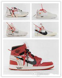 Zapatos para correr a mediados online-New Men Running Shoe Studio Mid 1 Zapatillas de baloncesto de Chicago para hombres 1 Zapatillas de deporte Force one Presto 2.0 95 98 Zapatillas de deporte negras blancas Aptas