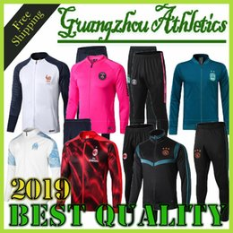 mens jacket xxl Coupons - good quality new 19 20 mens designer jackets tracksuits marseille jacket 2019 2020 soccer jersey Frenchtraining suit marseille Hoodie coats