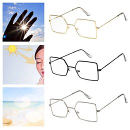 d02e2b829c99 Unisex Optical Glasses Metal Frame Vintage Fashion Irregular Eyewear  Eyeglasses Transparent Square New Design Myopia Spectacles