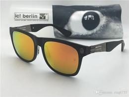 cr plastics Desconto Designer de marca alemã óculos de sol IC modelo lba 001 ultra-light sem memória de liga de parafuso óculos de plástico removível moldura quadrada com caixa