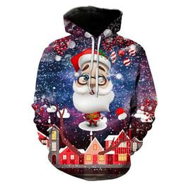 sudaderas unisex de navidad Rebajas Sudadera con capucha para hombre Navidad Navidad Santa 3D Impresión completa Hombre Sudadera con capucha Unisex Sudadera informal Sudaderas con capucha Mangas largas Sudaderas Tops (RL6401)