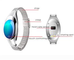 monitor intelligente del dispositivo Sconti Orologio di lusso Z18 Bluetooth Smart Band Monitor per la pressione arteriosa per cardiofrequenzimetro Bracciale Selfie Polsino remoto per dispositivi Android IOS