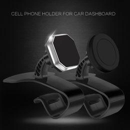 Ipad fahrzeughalter online-Clip-on-Universalhalterung Magnetic Vehicle Dashboard Bracket Auto-Handyhalter Stand Bracket für iPad Smartphones Tablets GPS
