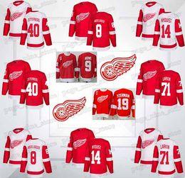 Detroit Red Wings Jersey Dylan Larkin Gustav Nyquist Henrik Zetterberg  Justin Abdelkader Steve Yzerman Gordie Howe jersey ac15e00ed