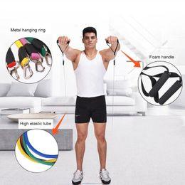 набор резисторов 11 шт. Скидка 11pcs/комплект йога тросовые кольца CrossFit фитнес-упражнения латекс сопротивление трубки тела полосы Стретч тренировки пояса