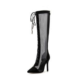 Canada Chaussures d`été pour femmes avec maille montante à la cheville, chaussures à talons bas en maille noire Chaussures pour robe de soirée. LX-071 cheap evening dress materials Offre
