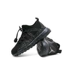 Bébés garçons jogging en Ligne-2019 printemps enfants respirant chaussures de sport fille mocassins noir confortable garçons occasionnels chaussures de course baskets mode bébé chaussures de jogging