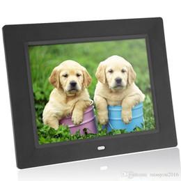Andoer 8 '' ultrafinos HD TFT-LCD Digital Photo Frame alarme eletrônico Quadro MP3 / 4 Player filme com o Remote Desktop de Fornecedores de tela branca do quadro de foto