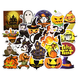 calendario del libro de recuerdos Rebajas 25PCS / set 2019 Happy Halloween Christmas Scrapbook Stationery Stickers Planner Calendar Agenda School Art Craft Supplies B