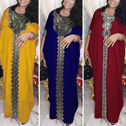 vestito reale nobile Sconti 2020 più il vestito di Dubai abaya musulmano Donne Bangladesh vestiti da sera delle marocchino caftano turco Pakistan Abaya Abbigliamento islamico