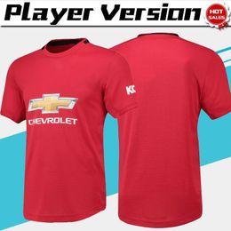 2019 версия red Версия для игроков 2019 # 6 POGBA United home красные футбольные майки 19/20 Новый сезон # 9 Футбольные майки LUKAKU Футбольная форма 2019 в продаже дешево версия red