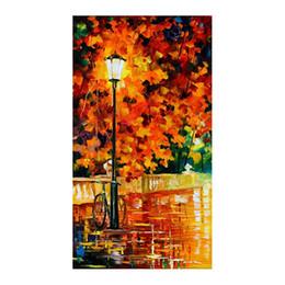 Malerei esszimmer online-Handgemaltes Ölgemälde das Esszimmer des Schlafzimmers hängt regnerische Nachtwandlandschaftsmalerei-Dekorationshandmalerei
