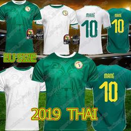 Тайский футбольный трикотаж онлайн-19 20 Кубок Африки Сенегал Футбол Тайский Джерси Чемпионат мира по футболу Сенегал национальная футбольная команда мужчины высокого качества Футболка бесплатная доставка
