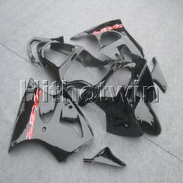23 colores + regalos Molde de inyección cubierta de motocicleta negra brillante para Kawasaki ZX-6R 2000 2001 2002 ABS carenado de plástico desde fabricantes