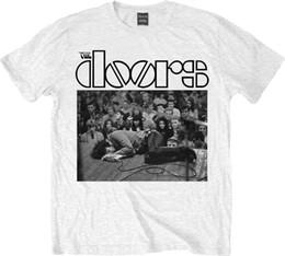 Les Portes Jim Sur Le Sol Blanc T-shirt Unisexe Taille Taille XXL ROCK OFF Drôle livraison gratuite Unisexe Casual Tshirt ? partir de fabricateur
