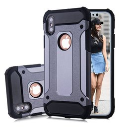 Iphone caso armatura dura online-Per Apple iphone Xs Max Xr 8 Plus X S9 Note9 Custodia resistente all'usura per armatura WHybrid Custodia rigida antiurto per TPU + PC Custodie per cellulari