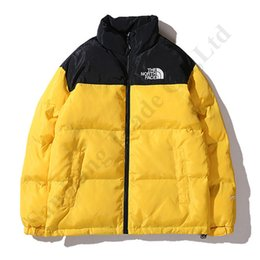 2020 The North Damen Herren Wintermantel Baumwolle gepolsterte Tremdy Gesicht Students Jacke Outwear Patchwork Outdoor Reißverschluss Mantel Hoodies