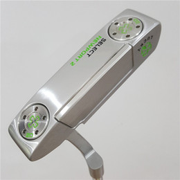 golf putter verde Sconti NEWPORT 2 Silver LUCKY Green Paint Golf Putter Clubs Edizione 33/34 / 35inch Grip Colore opzionale con copricapo