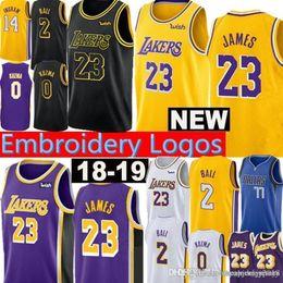 1586bd838 New Los Angeles 23 LeBron James Lakers Jersey 2 Lonzo   Ball 0 Kyle   Kuzma  14 Brandon   Ingram 24 Kobe 8 Bryant Jerseys