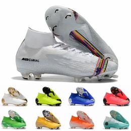 botas de coco Desconto Fúria Mercurial VII XII FG 12 Superfly VI 6 360 CR7 NJR Nonal Ronaldo Neymar Taquets de Crianças de Futebol de Futebol Tamanho 11