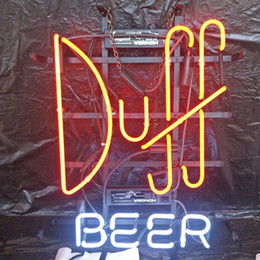 neon beer signs Coupons - Duff BEER LED Neon Sign Light Custom Outdoor Bar Club Display Entertainment Decoration Neon Lamp Light Metal Frame 17'' 20'' 24'' 30''