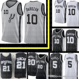 a04f5f200b0 Demar 10 DeRozan San  Antonio New Spurs Jersey Mens Tim 21 Duncan Manu 20  Ginobili Dejounte 5 Murray Embroidery Basketball Jerseys spurs jersey for  sale