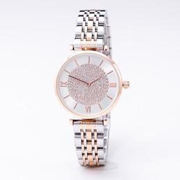 дамы наблюдают за новыми тенденциями Скидка 2019 модный бренд качества дамы из нержавеющей стали бабочка пряжки смотреть черный простой тренд водонепроницаемый полный алмаз новые часы ..