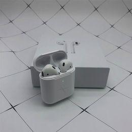 Новейшие Bluetooth наушники не Airpods 2 Supercopy W1 Чип-наушники Беспроводные Bluetooth-гарнитура Наушники с всплывающим окном Зарядка Box от