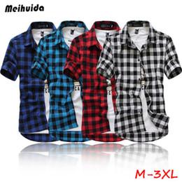 637fe30af7 vestiti da batik Sconti Moda Uomo Estate Casual Camicia Camicia a quadri Maniche  corte Magliette Top