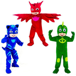 costumi pj Sconti Hot new Mascot Costumes Parade PJ Mask Birthdays Per adulti grandi animali Halloween party