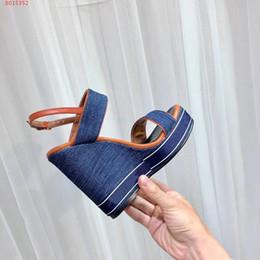2019 sandalen china China Großhandel Top-Qualität Luxus sexy Art und Weise Frauen Ladys Seiten Designer Plattform im Sommer im Freien Sandelholzferse hoch 12cm