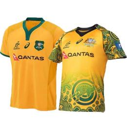 2020 camiseta de fútbol de australia 2018 2019 AUSTRALIA AUSTRALIA WALLABIES JERSEY INDIGENA WALLABIES camiseta de rugby jerseys tamaño de las camisas S Edición conmemorativa -3XL rebajas camiseta de fútbol de australia