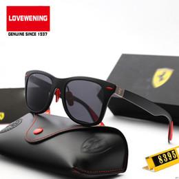 occhiali ultraleggeri Sconti Stley (5) Occhiali da sole polarizzati vintage Telaio ultraleggero Uomini Occhiali da sole per donna Rbany Serie Ferrari F8395-M Obiettivo polarizzato F0259Y 3P