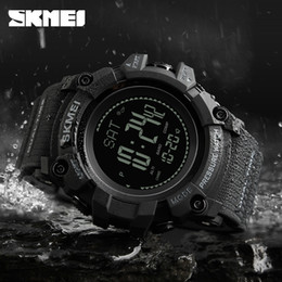 2019 будильник обратного отсчета часов SKMEI  Compass Watch Men Sport Fashion Wristwatch Pedometer Mileage Calories Countdown Altimeter  Alarm Clock 1358 дешево будильник обратного отсчета часов