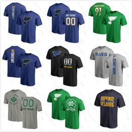 2019 magliette occidentali Stanley Cup personalizzata St.Louis Blues 91 tarasenko 17 Schwartz 2019 Stanley Cup Western Conference T-shirt Campioni Hockey Logo stampato sconti magliette occidentali