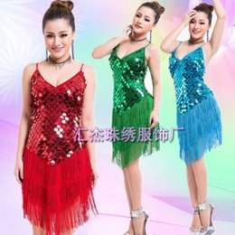 Rosette kleid frauen online-Frau latin dance dress frauen tango salsa rumba modern dance kostüme latin dress tanzen kleidung dancewear