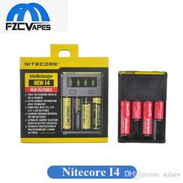 Новое оригинальное зарядное устройство Nitecore I4 дважды скорость зарядки 4 отсека интеллектуальные зарядные устройства для 18650 18350 18500 18450 литиевых батарей от Поставщики зарядное устройство
