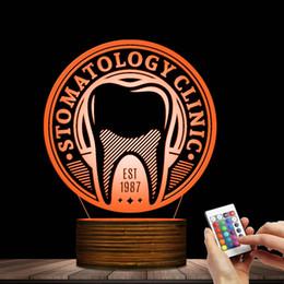 Lâmpada de luz de dente on-line-Dentist Dental Care Logo LED Lâmpada Luz personalizado Saúde Estomatologia Tooth Sign personalizado do higienista dental Luz Decor 3D