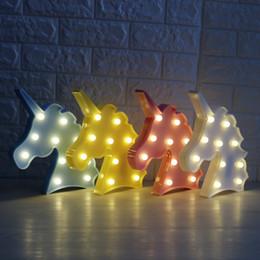 Canada Tête de Licorne Mignon Led Night Light Animal Chapiteau Lampes Sur Le Mur Pour Les Enfants Partie Chambre Décor De Noël De Noël Cadeaux Offre