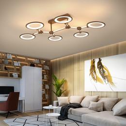 2019 plafonniers led plafonniers Plafonniers menés modernes en aluminium de rectangle pour des montages de lampe de plafond de couleur de café de chambre à coucher AC85-265V plafonniers led plafonniers pas cher